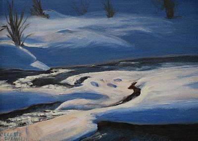 West Fork Painting - Winter's Lifeless World by Celeste Drewien