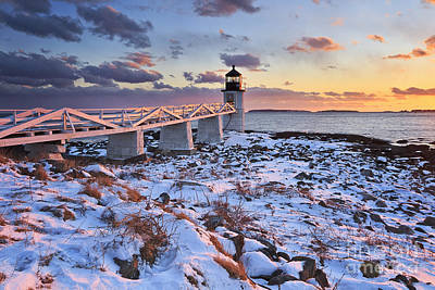 Coastal Maine Photograph - Winter's Light by Katherine Gendreau