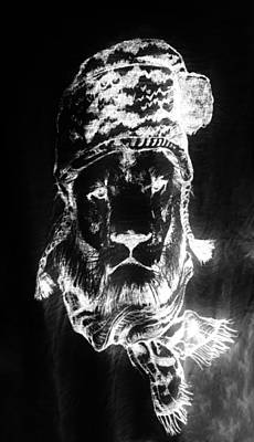Giuseppe Cristiano - Winters Lion Black White by Rob Hans