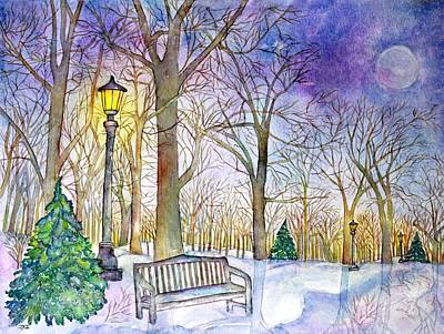 Painting - Winter's Night by Janet Immordino