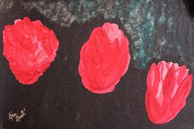 Painting - Winter's Night Rose by Gina Bonelli