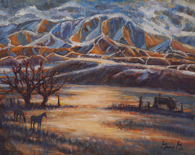 Wall Art - Painting - Winter's Rhythm by Gina Grundemann