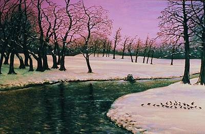 Painting - Winter's Rite by Terry Jackson