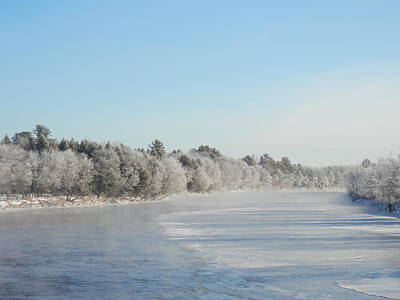 Photograph - Winter's River by Heather Sylvia