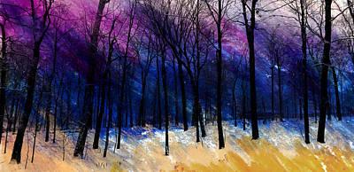 Winter's Struggle Art Print by R Kyllo