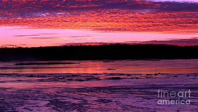 Photograph - Winter's Sunset by Elizabeth Winter