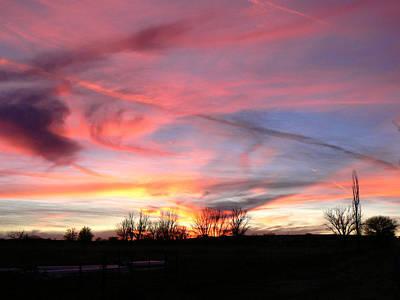 Photograph - Winters' Sunset Rainbow by Cheryl Damschen