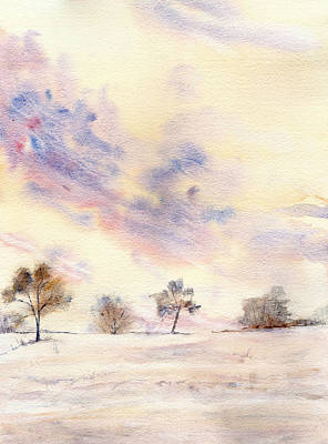 Snowscape Painting - Winter's Tale by Shayne Cooper