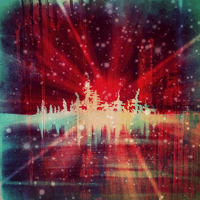 Winter Night Mixed Media - Winter's Touch by Nikol Wikman