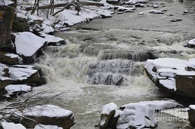 Photograph - Winters Waterfalls by Randy J Heath