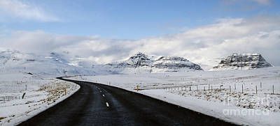 Winter Roads Photograph - Winter's Way by Evelina Kremsdorf