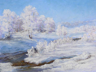 Winter's Whites Print by Christine Bass