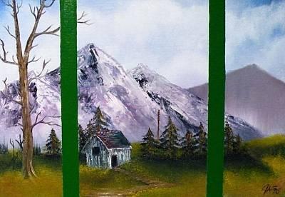 Winters Window Art Print