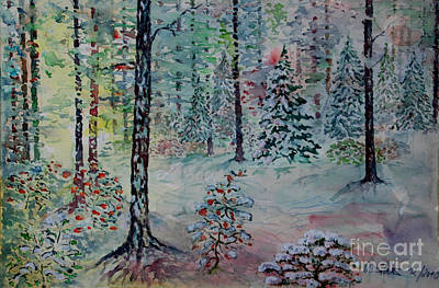 Art Print featuring the painting Winters Wonderland by Alfred Motzer