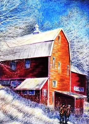 Winterscape Art Print by Raffi Jacobian