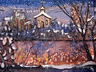 Painting - Winterscene Reflections by Gretchen Allen