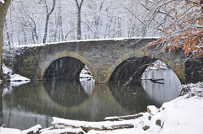 Wintertime At Bells Mill Road Art Print by Bill Cannon