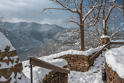 Photograph - Wintertime At Hawks Nest  by Mary Almond