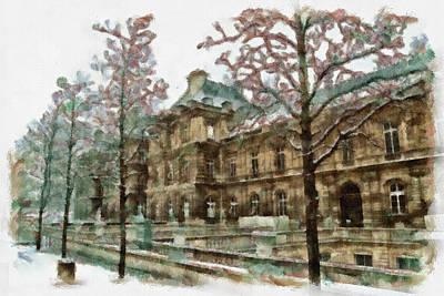 Winter Trees Painting - Wintertime Sadness by Ayse Deniz