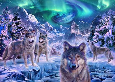 Snow Digital Art - Winterwolf by Jan Patrik Krasny
