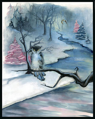 Painting - Winterwood by Terry Webb Harshman