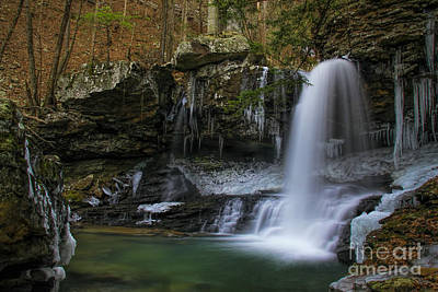 Photograph - Wintery Falls In Sittons Gulch by Barbara Bowen