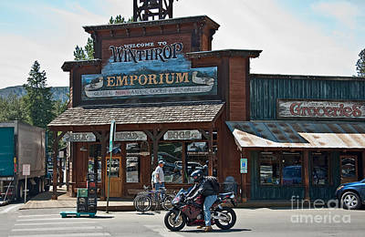Photograph - Winthrop Emporium Store In Wild West To by Valerie Garner