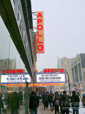 Wintry Day At The Apollo Art Print by Ed Weidman