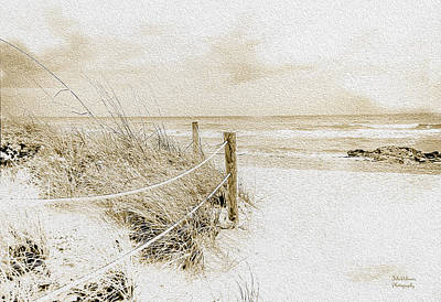 Desolate Digital Art - Wintry Day At The Beach  by Julie Palencia
