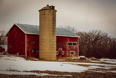 Photograph - Wintry Day On The Farm by Kathleen Scanlan