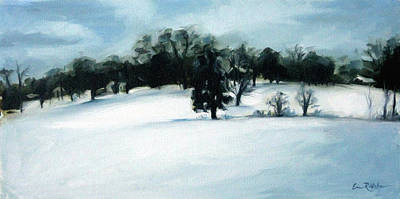 Painting - Wintry Hill by Erin Rickelton