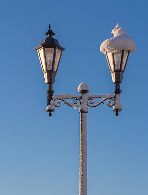 Photograph - Wintry Lamp Post by Richard Goldman