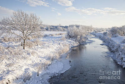 Photograph - Wintry River by Liz Leyden