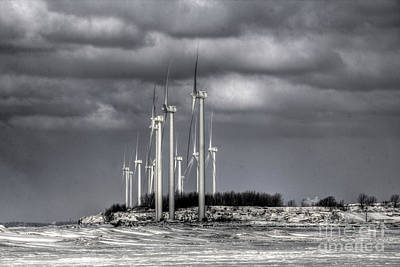 Photograph - Wintry Windmills by Jim Lepard