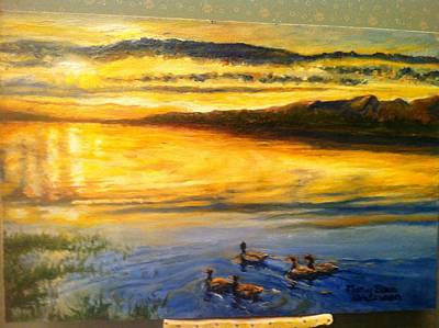 Painting - Wip Different Views by Mary Ellen Anderson