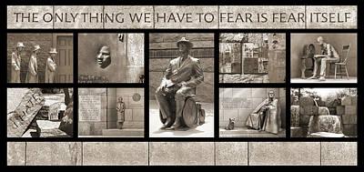 Franklin Photograph - Wip - Fdr Memorial - Washington Dc by Mike McGlothlen