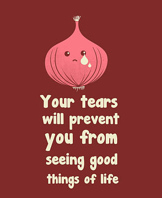 Onion Digital Art - Wipe Off Your Tears by Neelanjana  Bandyopadhyay
