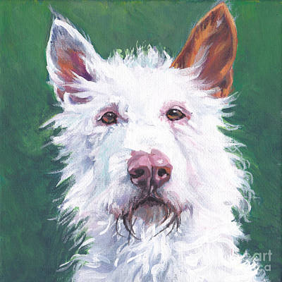 Painting - wire coated Ibizan Hound by Lee Ann Shepard