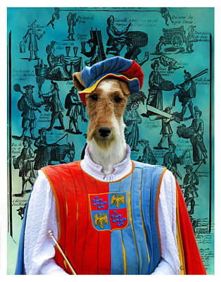 Painting - Wire Fox Terrier Art Canvas Print by Sandra Sij