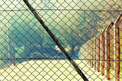 Wire Mesh Fence Art Print
