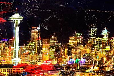 Trippy Photograph - Wired Seattle by Benjamin Yeager