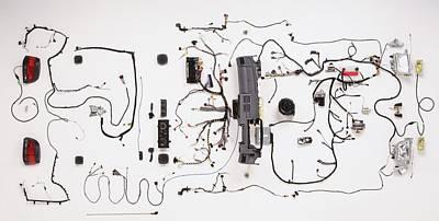 Component Photograph - Wiring Loom Of Modern Car by Dorling Kindersley/uig