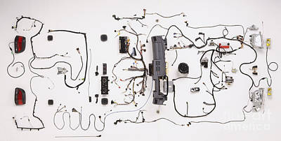 Wiring Of Modern Car Art Print