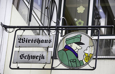 Wirtshaus Schwejk Brauhaus Sign Cologne Germany Art Print