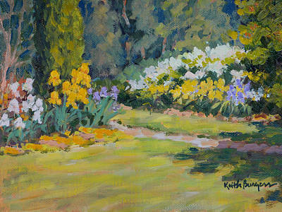 Knockout Painting - Wirtz Garden by Keith Burgess