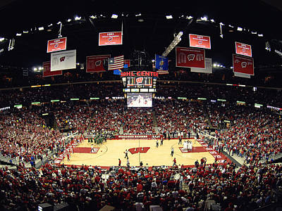 Replay Photograph - Wisconsin Badgers Kohl Center by Replay Photos