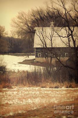 Wisconsin Barn In Winter Art Print by Jill Battaglia
