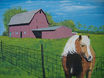 Wisconsin Barn Art Print by Norm Starks