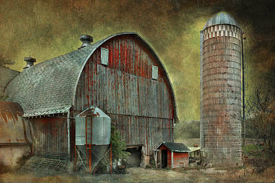 Metal Roof Photograph - Wisconsin Barn - Series by Jeff Burgess