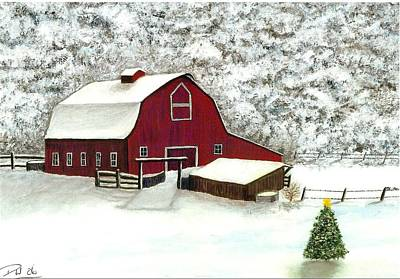 Painting - Wisconsin Christmas by Dan Wagner